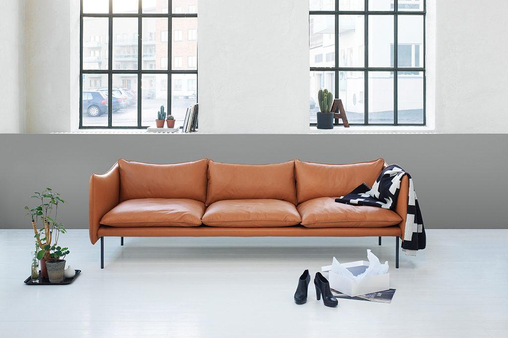 cognac sofa skinn. Black Bedroom Furniture Sets. Home Design Ideas